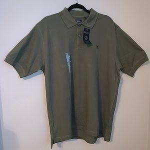 NWT Izod Silk Wash Cotton Short Sleeve Polo Shirt